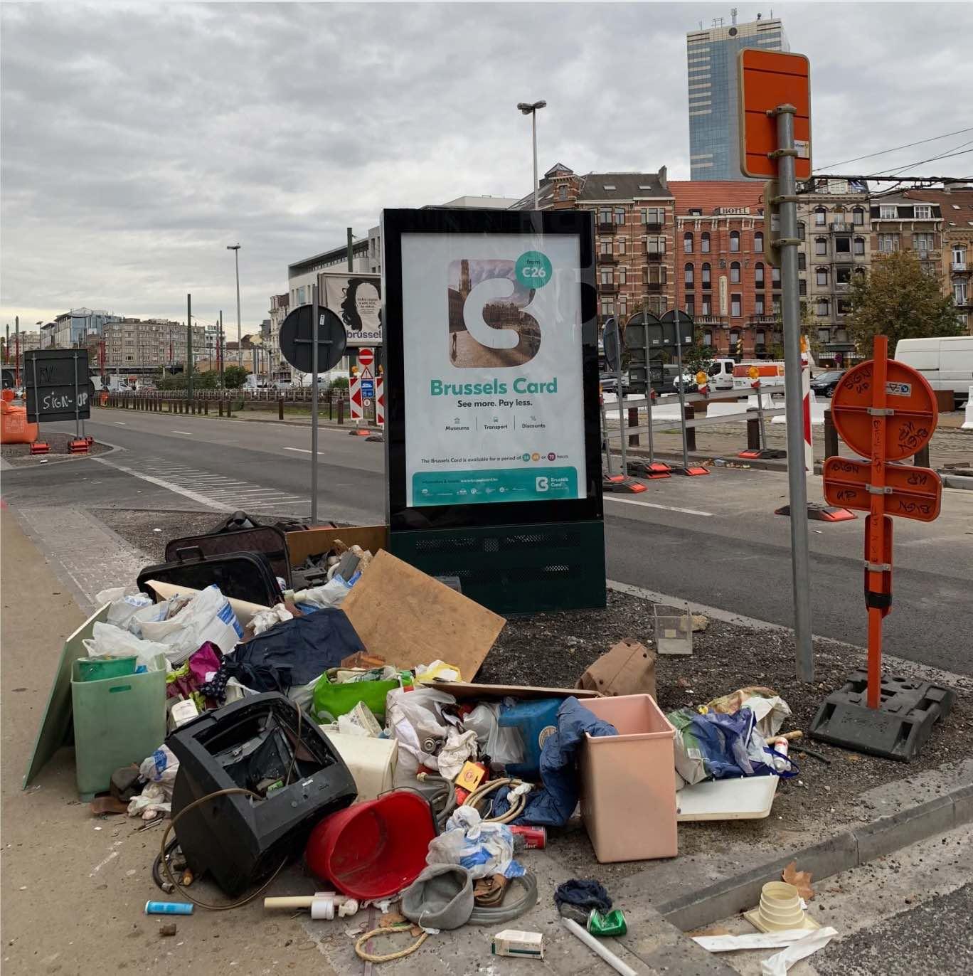 Dump rubbish man van container park cargo taxi